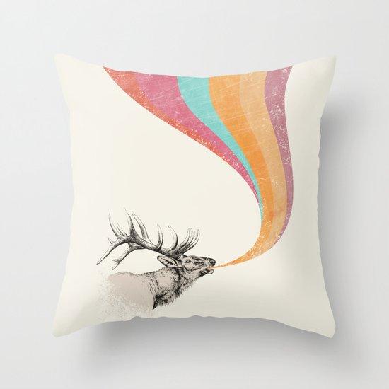 Elk Song Throw Pillow
