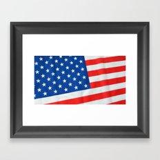 American Flag 3 Framed Art Print