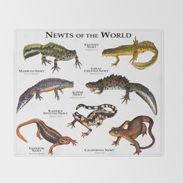Newts of the World Throw Blanket