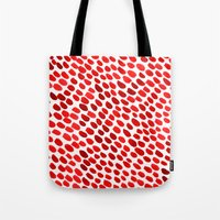 pomegranate Tote Bags featuring Pomegranate by Hye Jin Chung