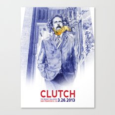 Clutch San Francisco Poster Canvas Print