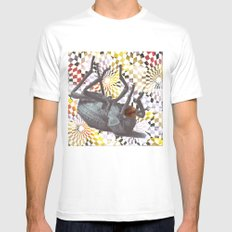 Buggys White MEDIUM Mens Fitted Tee
