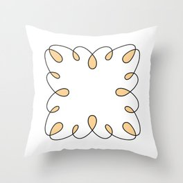 Swirly Square Throw Pillow