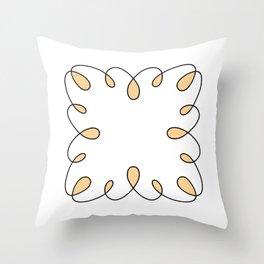 Square-swirl-001 Throw Pillow