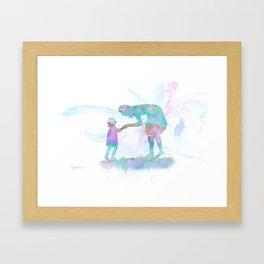 10839 Mom and Me Framed Art Print