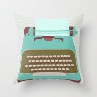 type Throw Pillows featuring Type by Rachel Gresham