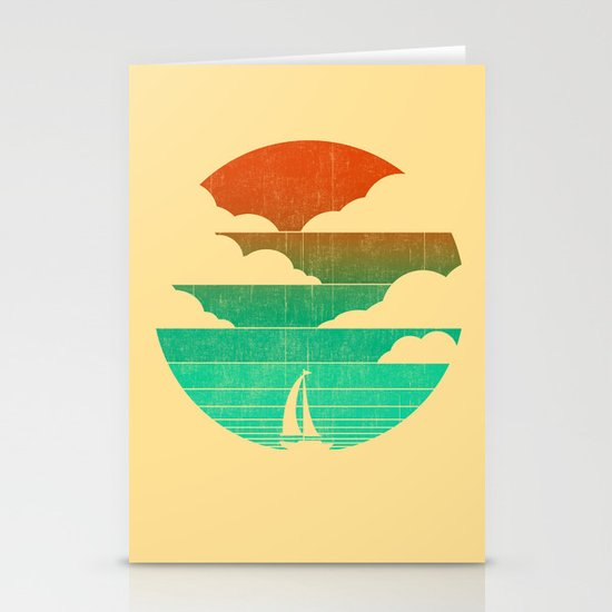 Go West (sail away in my boat) Stationery Cards