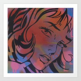 Pop Art Spray Paint Stencil Art Print