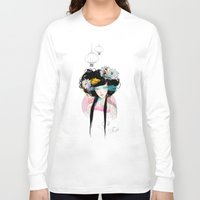 eyes Long Sleeve T-shirts featuring Nenufar Girl by Ariana Perez