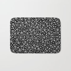 Flora Black Bath Mat