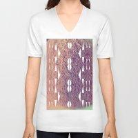 makeup V-neck T-shirts featuring makeup by alina vasile