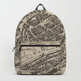 Vintage Pictorial Map of Frankfurt Germany (1575) Backpack