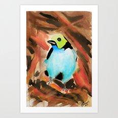 Little Birds 13/30 by Veron Ramsawak Art Print