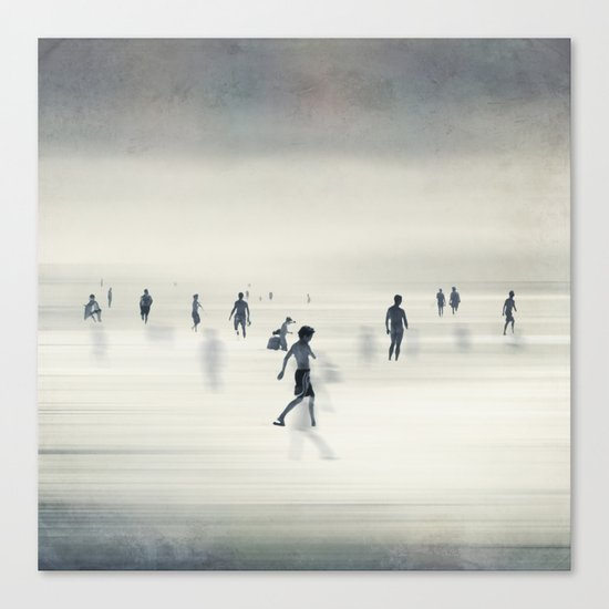 floating on light Canvas Print