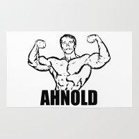 arnold Area & Throw Rugs featuring Arnold Schwarzenegger  |  AHNOLD by Silvio Ledbetter