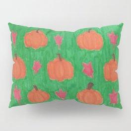 Green Pumpkin Patch Pillow Sham