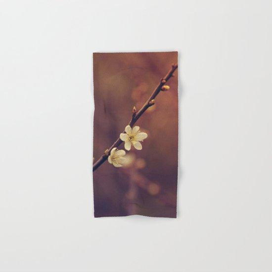 White Cherry blossom Hand & Bath Towel