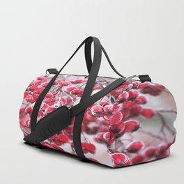Icy Rowan Red Berries Winter Scene #decor #society6 #buyart Duffle Bag