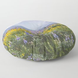 Waterton Wildflowers Floor Pillow
