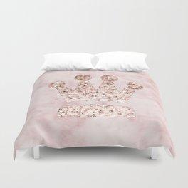 Rose gold - crown Duvet Cover