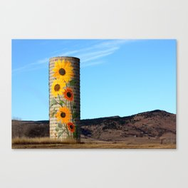 Sunflower Silo Canvas Print