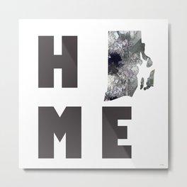 "Rhode Island ""HOME"" Metal Print"