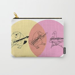 Keytar Platypus Yellow Orange Pink Carry-All Pouch