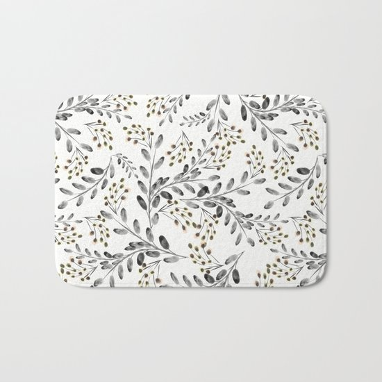 Delicate floral pattern. 1 Bath Mat