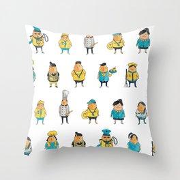 Wooferland: Wooferkers Pattern Throw Pillow