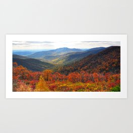 Yellow Brick Road, Shenandoah Art Print
