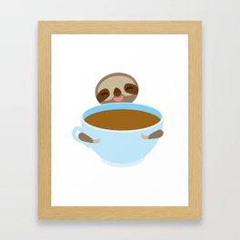 sloth & coffee Framed Art Print