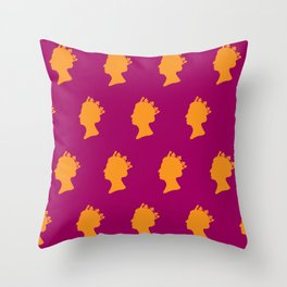 The Peoples Queen Throw Pillow
