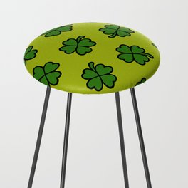 Lucky Four Leaf Clover Pattern Counter Stool