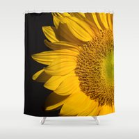 sunflower Shower Curtains featuring sunflower by mark ashkenazi
