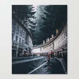 Cycling at Regent Street by GEN Z Canvas Print