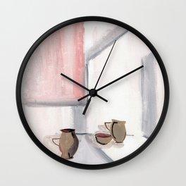 Asymmetric Potteries Wall Clock