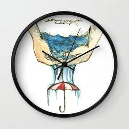 Glory Rain Wall Clock