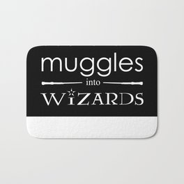 Books Turn Muggle into Wizards Bath Mat