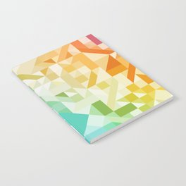 Colorful Geometric Pattern Saturated Rainbow Pattern Design (Red Pink Orange Yellow Green Blue) Notebook
