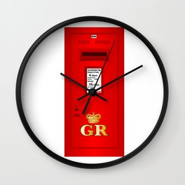 Traditional British  Georges Reign Postbox Wall Clock