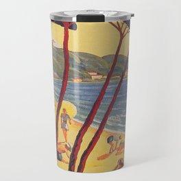Antibes France Beach Vintage Travel Poster Travel Mug
