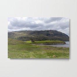Ardvreck castle landscape Metal Print