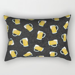 Artsy Modern Yellow Black Watercolor Beer Steins Rectangular Pillow