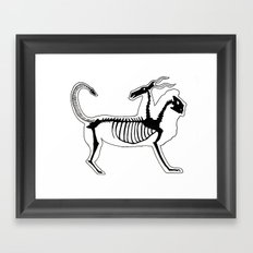 Chimera Skeleton Framed Art Print