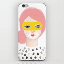 Girl with Mask iPhone Skin