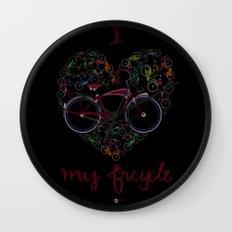 I Love my Bicycle Wall Clock
