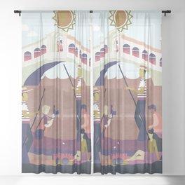 Venice Italy 8 Sheer Curtain
