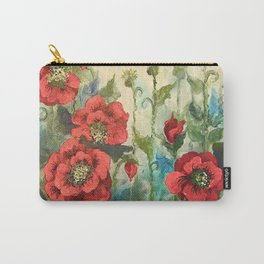 SK's Field of Poppies Carry-All Pouch