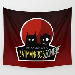 The Adventures of Bat man and Rob Zombie Wall Tapestry
