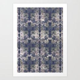 Blue Repeat Art Print